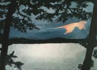 Wet sunset, Funka, 24x33cm