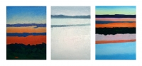 Sunsets and White Rain,18x24cm each