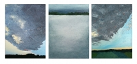Greys-Lake and Clouds, 18x24cm each