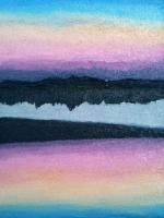 lake - sunset 24x18cm