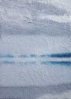 misty lake 18x13cm