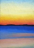 red sunset 33x24cm
